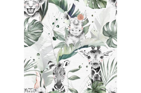 Safari babies girl fabric
