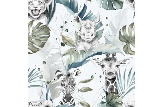 Safari babies boy fabric
