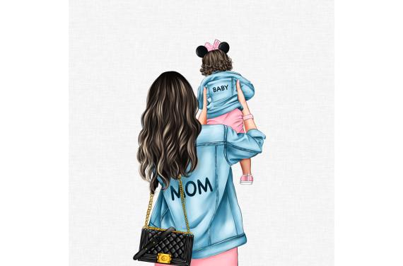 MOM&BABY GIRL 3 ECO LEATHER PANEL
