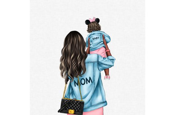 MOM&BABY GIRL 4 ECO LEATHER PANEL