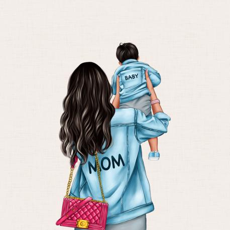 Panel für die Tasche -MOM&BABY SON 2-50x50