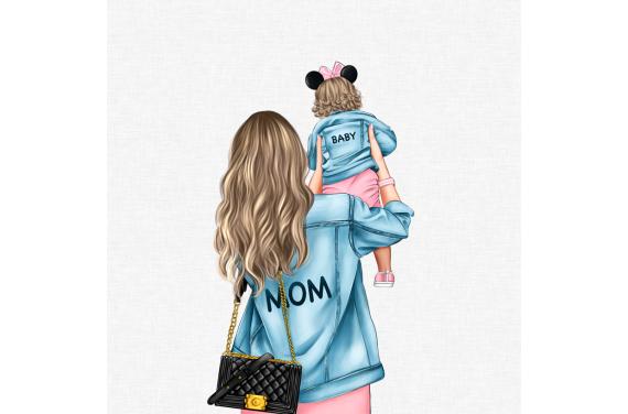 панель управления - MOM&BABY GIRL 1-- 50x50