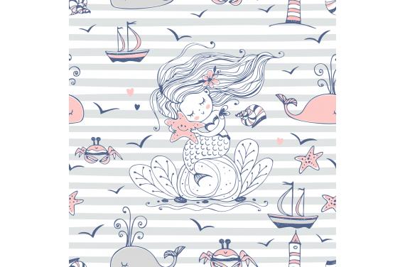 Little mermaid 1 tkanina