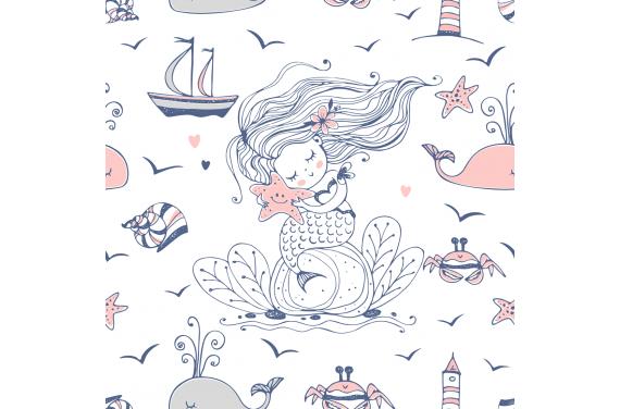 Little mermaid 2 ткань