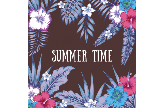 Panel for the bag -Summer time 2 50x50
