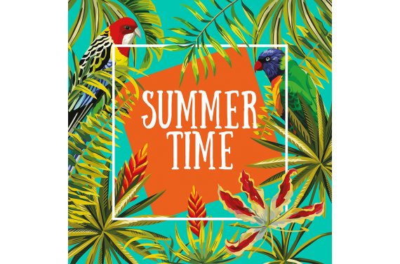 Panel na torbę -Summer time 6 50x50
