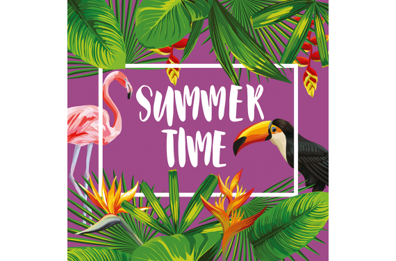 Panel na torbę -Summer time 7 50x50