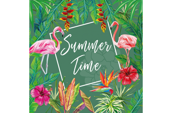 Panel for the bag -Summer time 8 50x50