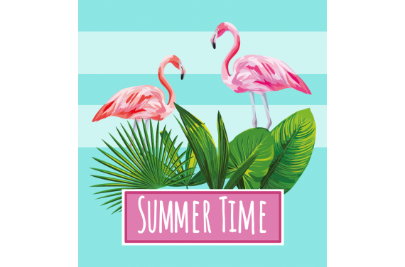 Panel for the bag -Summer time 10 50x50