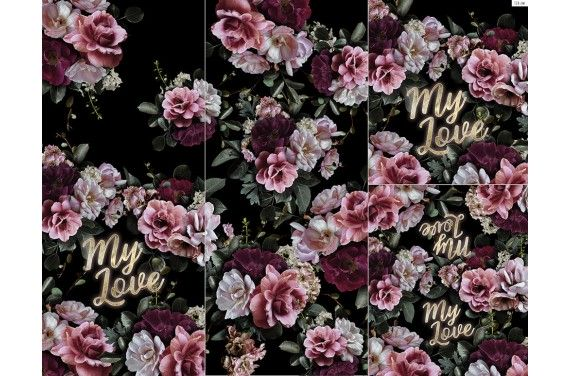 Panel for sleeping bag My love 2