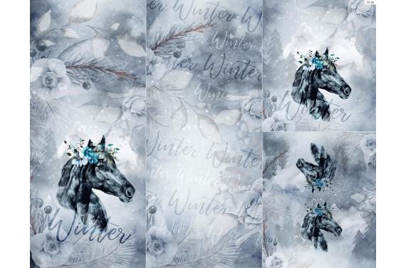 Panel na śpiworek - Winter forest 4