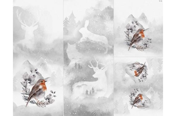 Полиэстер - Winter forest 6 bird