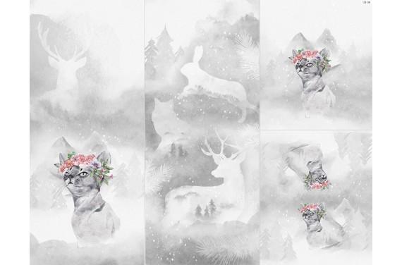 Полиэстер - Winter forest 6 cat