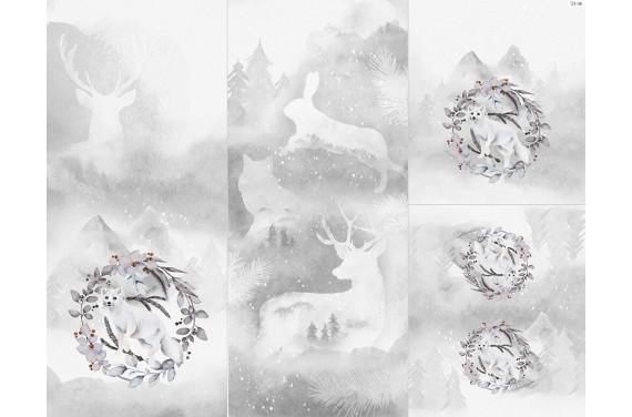Полиэстер - Winter forest  6 fox 2