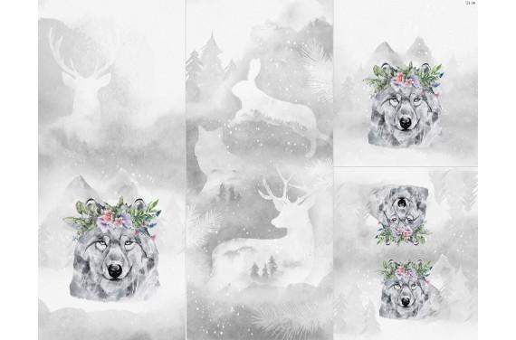 Полиэстер - Winter forest 13