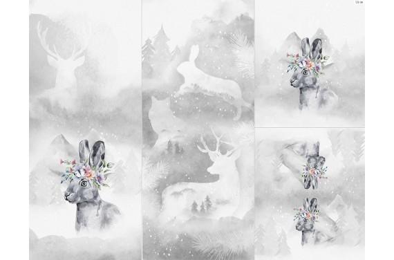 Panel na śpiworek - Winter forest 17