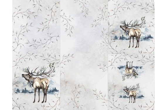 Panel for sleeping bag - Winter forest 9