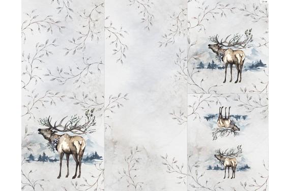 Panel na śpiworek - Winter forest 9
