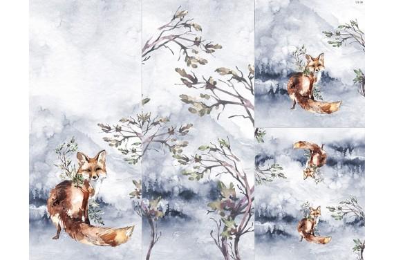 Panel na śpiworek - Winter forest 10