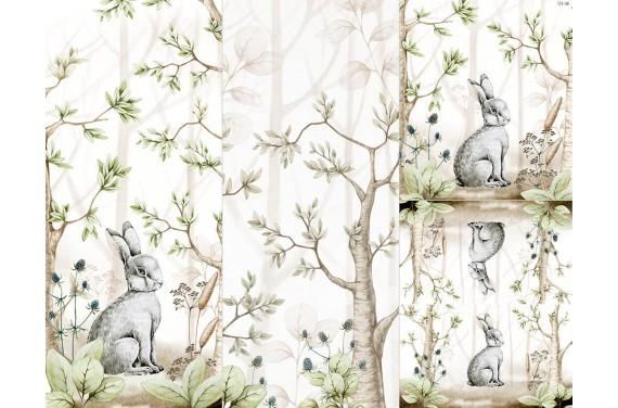 Panel for sleeping bag -Wild rabbit 1