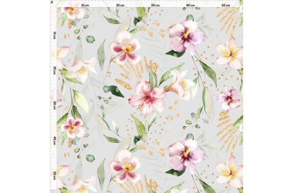 Idylla flowers tkanina