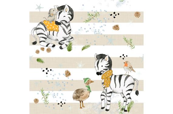 Little zebra 1 tkanina