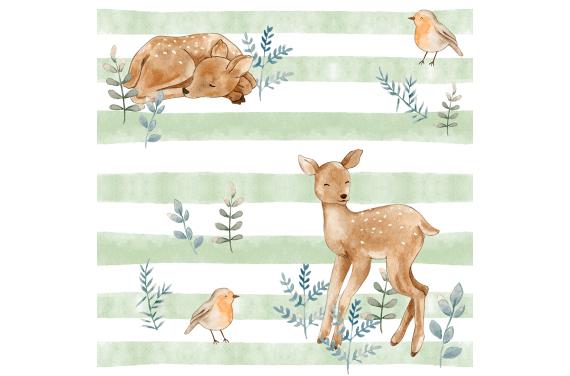 Younger deer tkanina