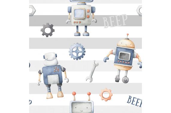 Robots 4 tkanina