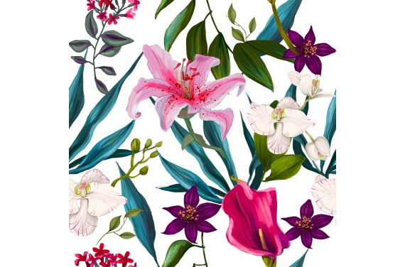 Orchideen 2 Stoff
