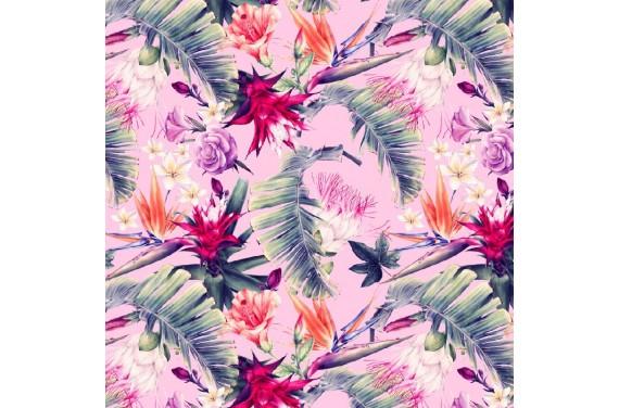 Egzotyczne kwiaty 3 tkanina