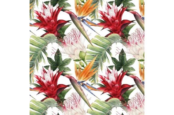 Ezotyczne kwiaty 1 tkanina