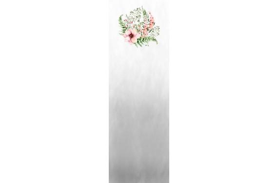 Blumen auf Grau Wageneinsatz