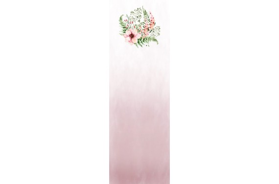 Blumen auf Rosa Wageneinsatz