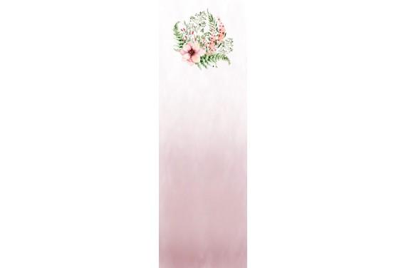 Kwiaty na różowym wkładka do wózka