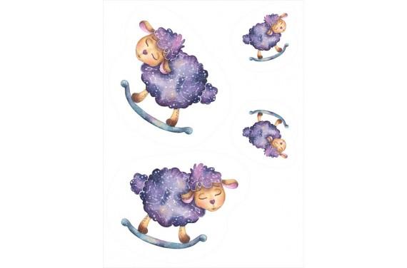 Maskottchen Wiegenlied ein Schaf