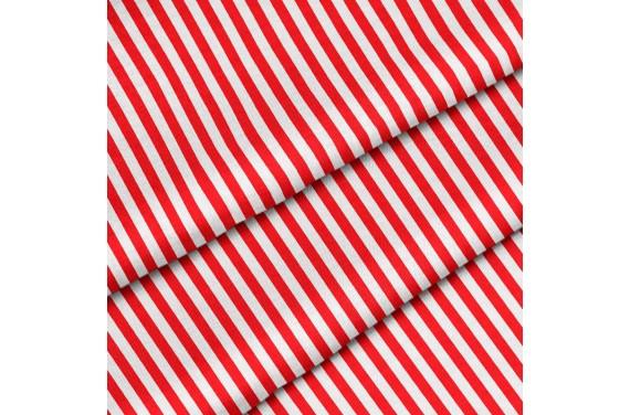 Poliester Czerwone pionowe paski