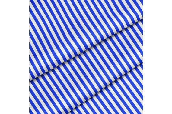 Polyester Blue vertical stripes