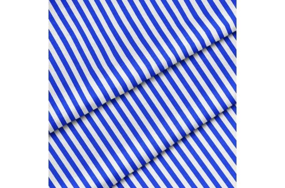 Poliester Niebieskie pionowe paski