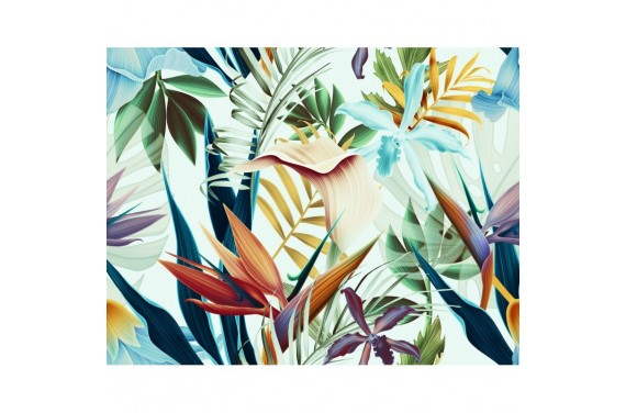 Tropikalne kwiaty 2 tkanina