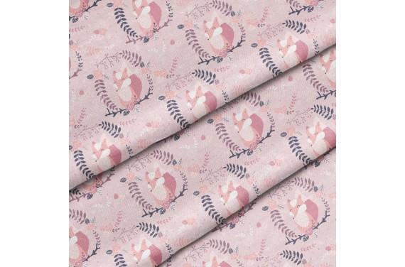 Полиэстер Розовые лисицы