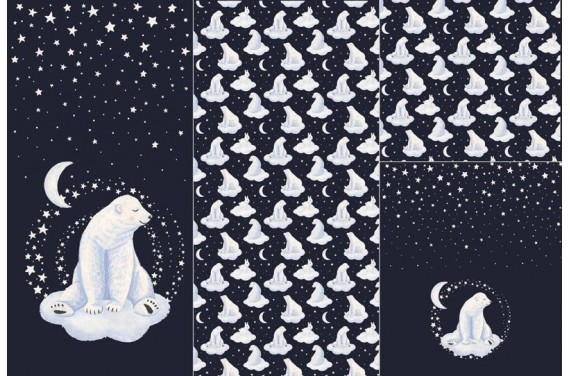 Panel na śpiworek  Miś polarny