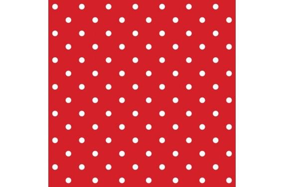 Poliestry kropki na czerwonym
