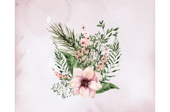 Панель для мешка - цветы- 50x40 см