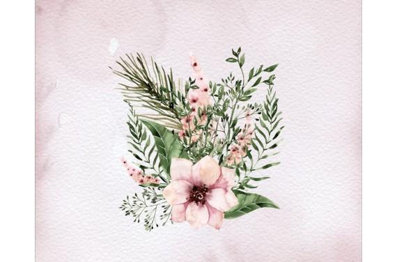 Panel na torbę - kwiaty - 50x40 cm