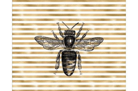 Панель для мешка - пчела - 50x40 см