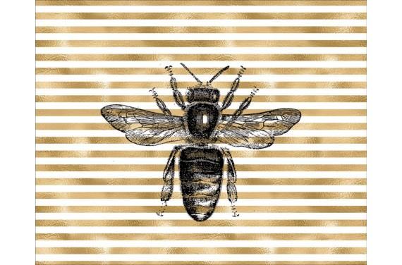 Panel na torbę - pszczoła - 50x40 cm
