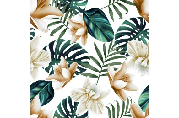 Bright orchids fabric