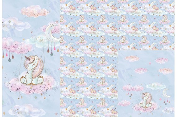 Panel for sleeping bag Baby Unicorn 1