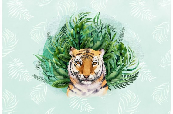 Tropical tiger boy