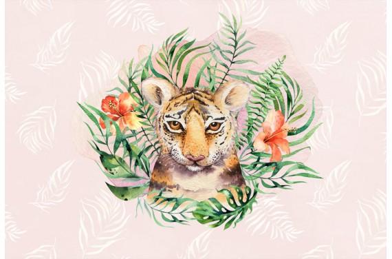 Tropical tiger girl